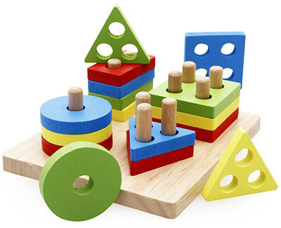 Rolimate Wooden Educational Shape and Color Recognition Geometric Board