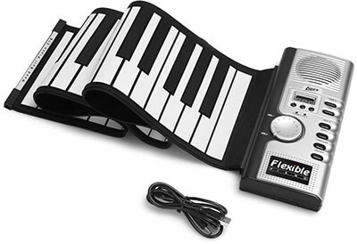 Lujex Foldable Soft Electric Digital Roll-up Keyboard Piano
