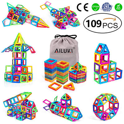 AILUKI Magnetic Blocks, Strong Magnetic Stacking Blocks