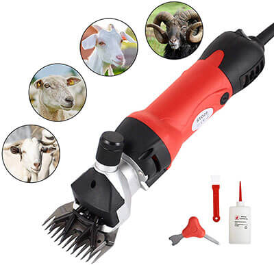 SUNCOO Portable Animals Electric Clippers Heavy Duty 350 Watts Shearing Device