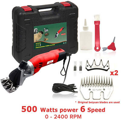 Sheep Shears Pro 500W Heavy Duty Electric Shearing Clippers with 6 Speed