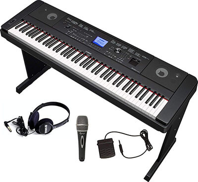 Yamaha DGX660 Bundle, Headphones, Microphone and Sustain Pedal
