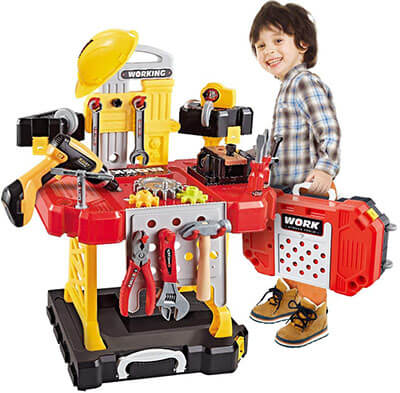 Young Choi's Kid's Power Workbench Construction Tool