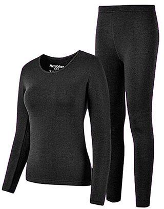 HEROBIKER Thermal Underwear for Women