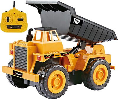 Top Race 5 Channel Remote Control Construction Truck Kids Size