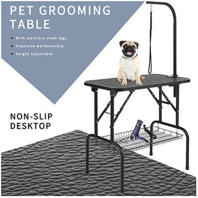 LEIBOU 32'' Professional Foldable Pet Dog Grooming Table Heavy-Duty- Foldable