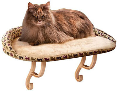 K&H Pet Products Kitty Sill with Removable Bolster