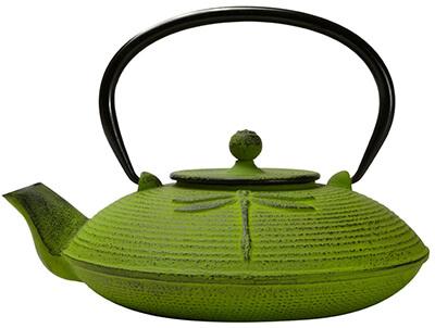 Primula PCI-5228 Green Dragonfly Japanese Tetsubin Cast Iron Teapot