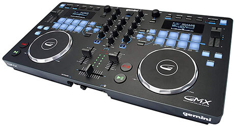 Gemini GMX Series Pro Audio DJ Multi-Format Controller with Touch-Sensitive High-Res Jog Wheels