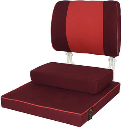Friends of Meditation Buddha Bliss Meditation Chair Maroon