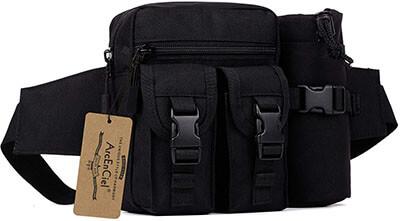 ArcEnCiel Tactical Waist Waterproof Bum Bag with Water Pouch