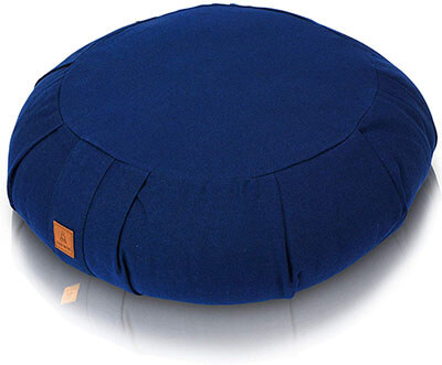 Buckwheat Meditation Cushion Crescent- Round or Zabuton Yoga Pillow