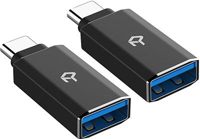 Rankie 2-Pack USB C Adapter Hi-Speed USB Type C to USB-A 3.0