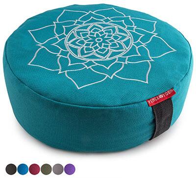 Peace Yoga Zafu Meditation Yoga Bolster Pillow-Buckwheat Filled Cotton