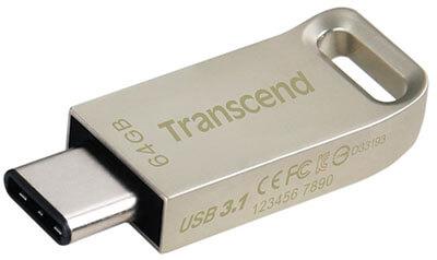 Transcend 64GB Jet Flash 850 USB 3.0 Flash Drive, OTG