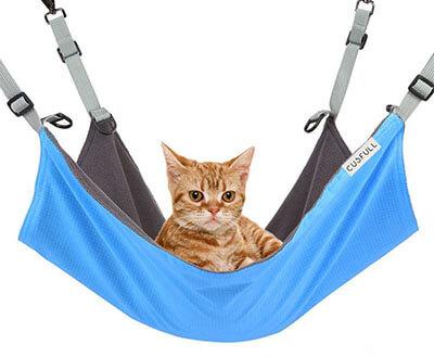 CUSFULL Cat Hammock Hanging Pet Bed