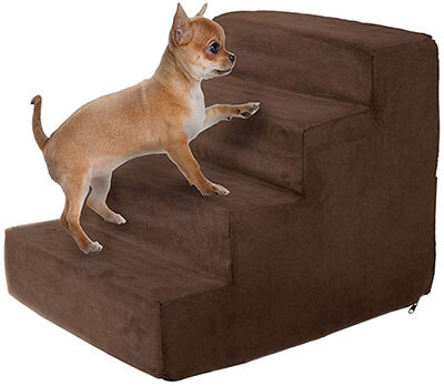 Petmaker High-Density Foam Pet Steps with Machine Washable Micro-Fiber