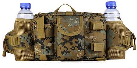 UNISTRENGH Waterproof Tactical Waist Pack Bag with 2 Water Bottle Pocket