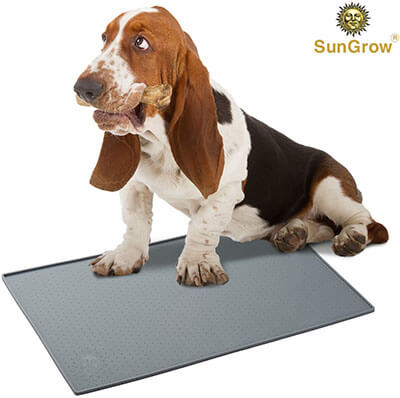 SunGrow Silicone Pet Feeding Mat – Waterproof