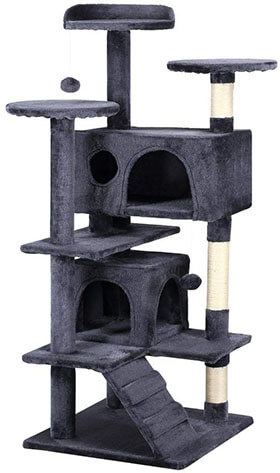 "Yaheetech 51"" Cat Tree Tower Condo Furniture Scratch Post"