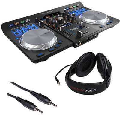 Hercules Universal DJ Bluetooth Controller with R100 Stereo Headphones