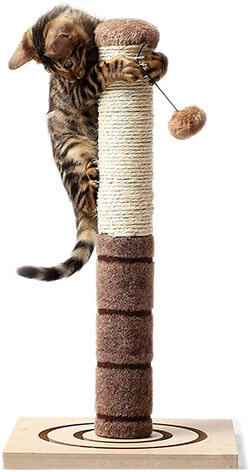 Paws Stuff Tall Cat Scratching Post Cat Interactive Toys