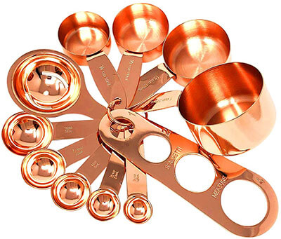 Homey Product Copper Measuring Cups