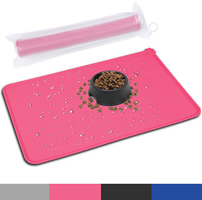 HOOSUN Pet Silicone Bowl Mat, Pet Feeding Mat