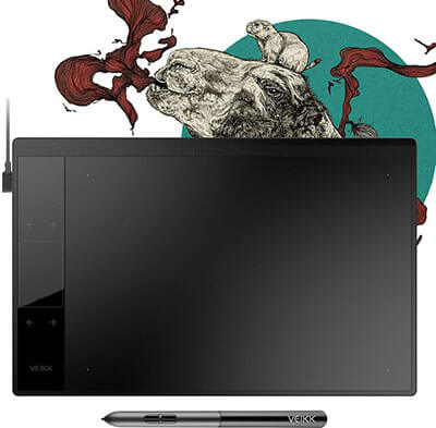 VEIKK A30 Graphics Drawing Tablet -8192 Levels Battery-Free Pen Active Area