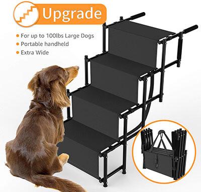 SUKI&SAMI Metal Frame Lightweight Folding Dog Ramp for Car