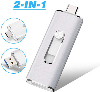 K&ZZ 32G Mini USB 3.0 Type-C Dual Flash Drive, OTG