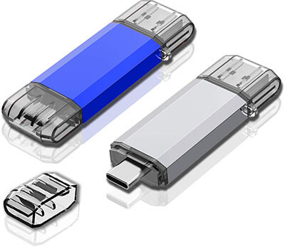 Sanfeya 2 Pack USB 3.0 Type C Dual OTG Flash Drive USB C - 32GB