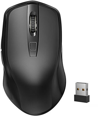 Yantop Wireless Mouse Full Size -2.4G Cordless Mouse