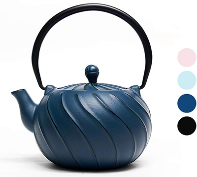 TOPTIER Japanese Cast Iron Teapot with Infuser