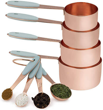 Cook with Color 8 Piece Copper Measuring Cups