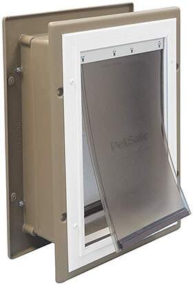 PetSafe Wall Entry Door with Telescoping Tunnel Pet Door for Dogs and Cats