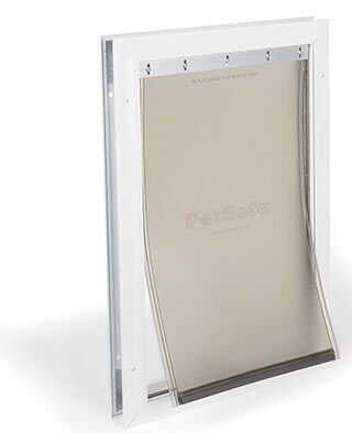 PetSafe Freedom Aluminum Pet Door for Dogs and Cats-White, Tinted Vinyl Flap
