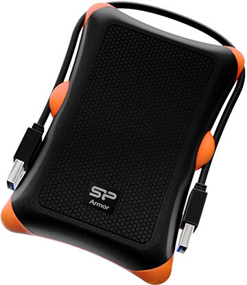 Silicon Power 1TB Shockproof Rugged Portable External Hard Drive Armor A30, USB 3.0