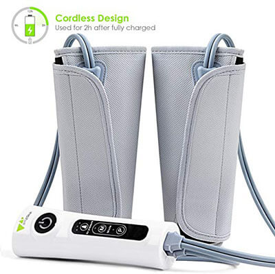 Amzdeal Leg Massager Air-Compression Leg Wraps for Calf Arms Foot