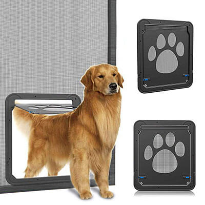 OWNPETS Automatic Lockable Black Door for Small Dog and Cat Gate