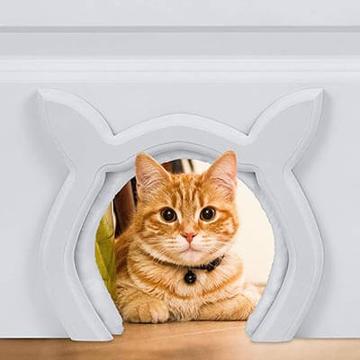 Prouder Pet Cat Door Cat Shaped Interior Indoor Doors