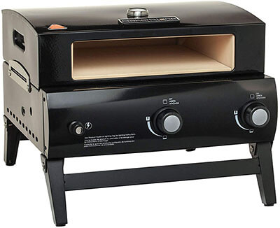 BakerStone O-AJLXX-O-000 Portable Gas- Pizza Oven, Black