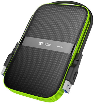 Silicon Power 4TB Rugged Portable Shockproof External Hard Drive Armor A60
