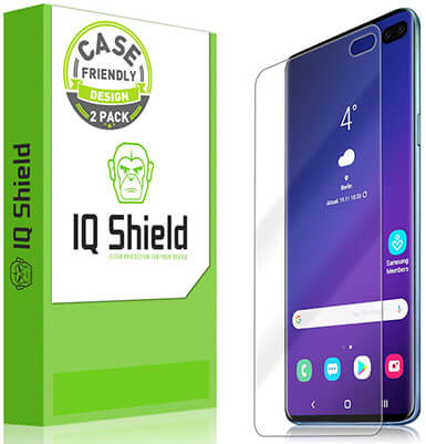 IQShield LiQuidSkin HD Clear Full Coverage Screen Protector for Galaxy S10 Plus