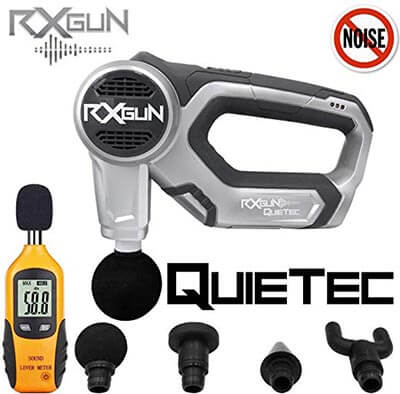 RxGun QUIETec Vibration Percussion Cordless Rechargeable Handheld Massager