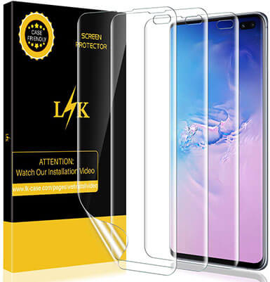 LK Anti-Bubble Flexible TPU Film Screen Protector for Samsung Galaxy S10