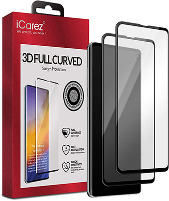 iCarez Full Coverage Glass Screen Protector for Samsung Galaxy S10e