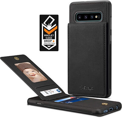 Spaysi Slim Galaxy S10 Plus Folio Leather Case with Flip Cover