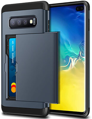 SAMONPOW Galaxy S10 Plus Case Hybrid Galaxy S10 Plus Wallet Case with Card Slot