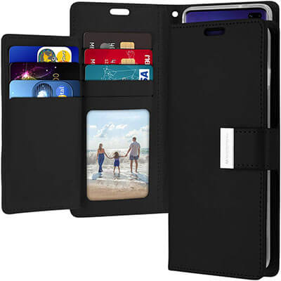 Goospery Rich Diary PU Leather Flip Cover Galaxy S10+ Wallet Case
